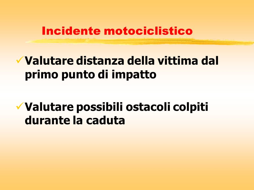 Incidente motociclistico