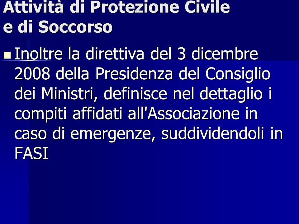 Attività di Protezione Civile e di Soccorso