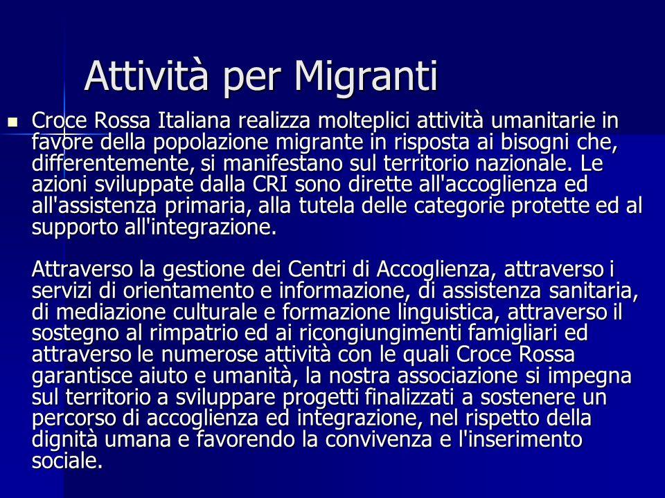 Attività per Migranti