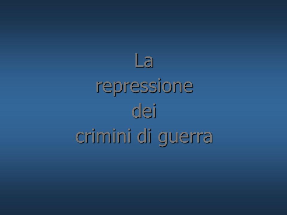 La repressione dei crimini di guerra