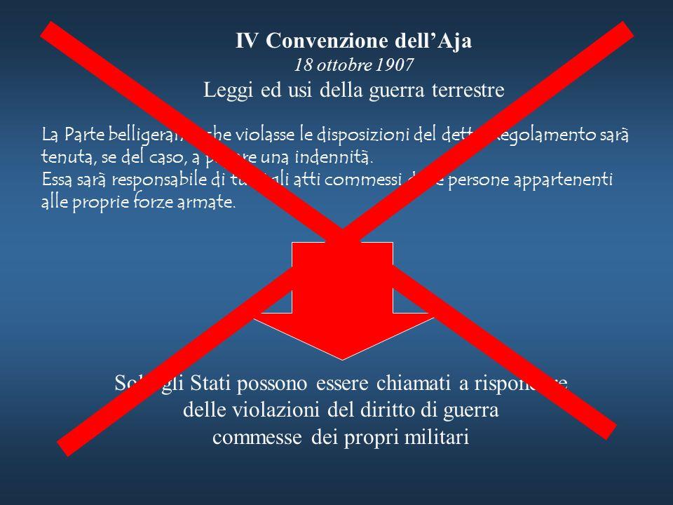 IV Convenzione dell'Aja