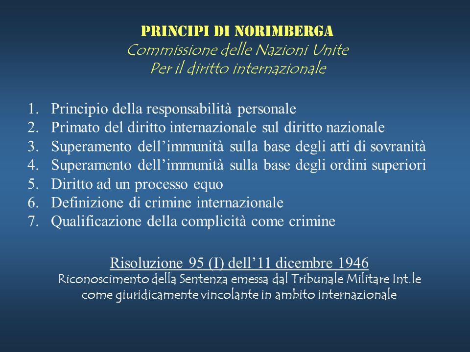 Principi di Norimberga Commissione delle Nazioni Unite