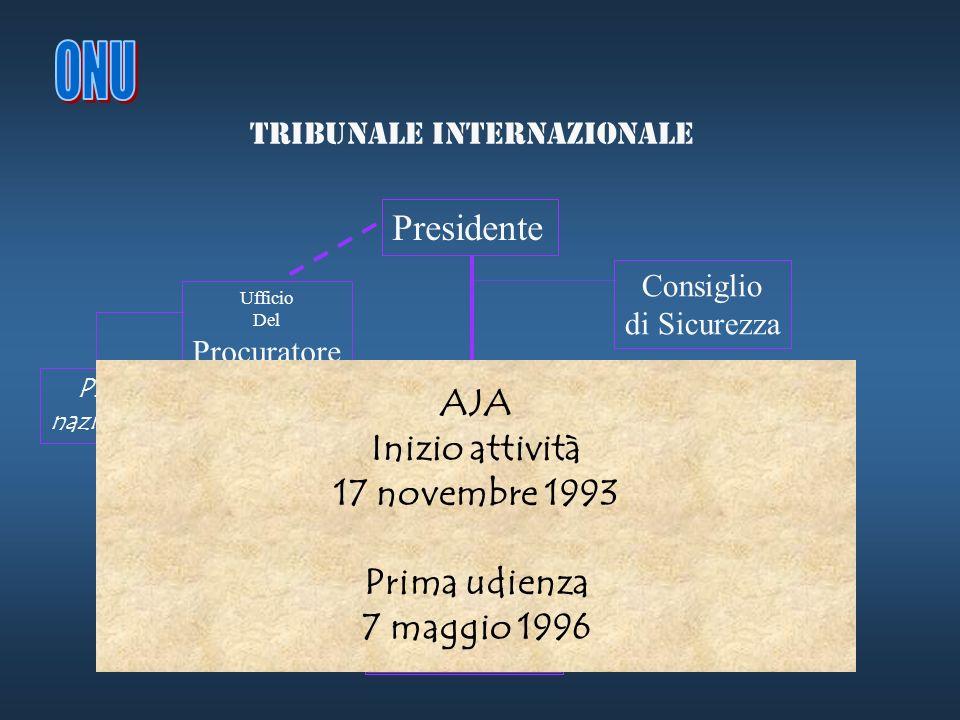 ONU Presidente AJA Inizio attività 17 novembre 1993 Prima udienza