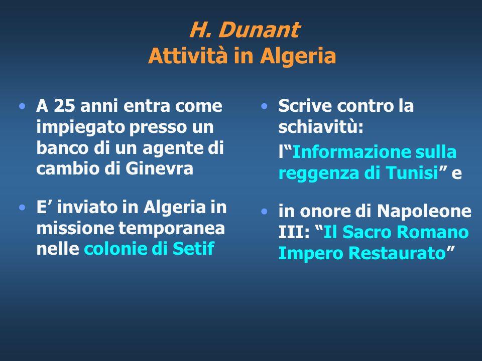 H. Dunant Attività in Algeria
