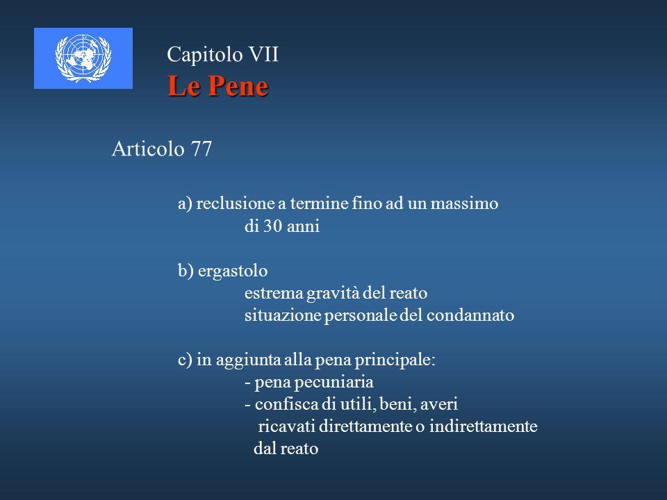 Le Pene Capitolo VII Articolo 77