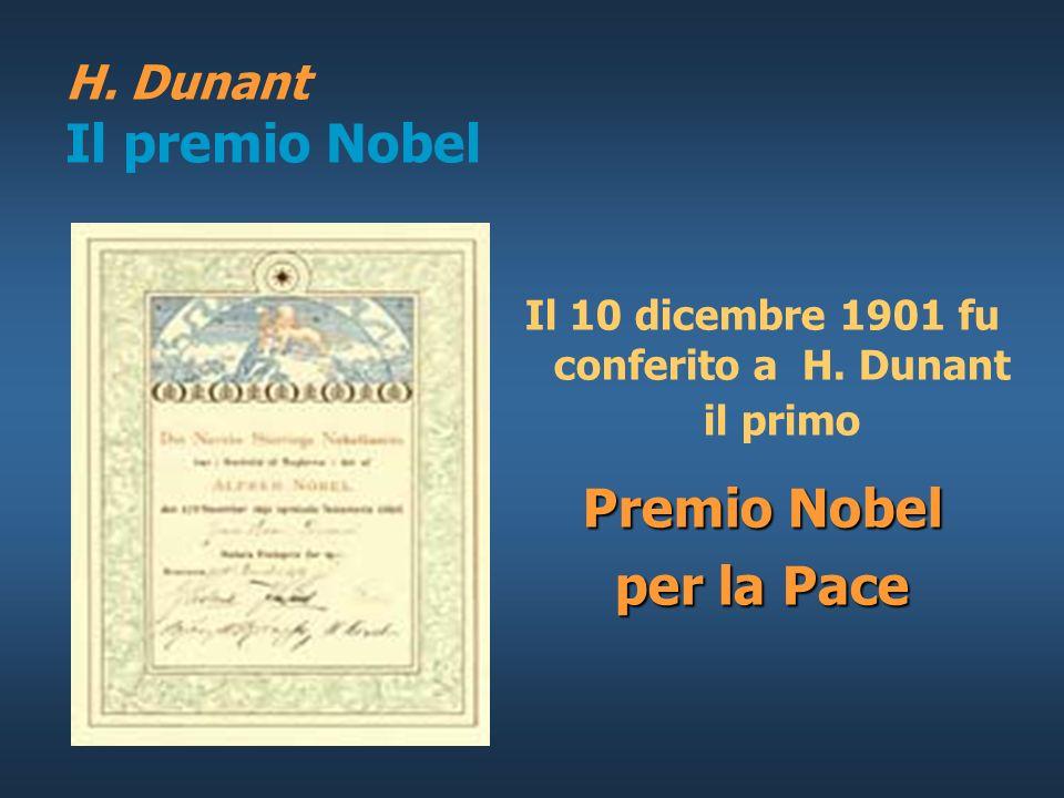 H. Dunant Il premio Nobel