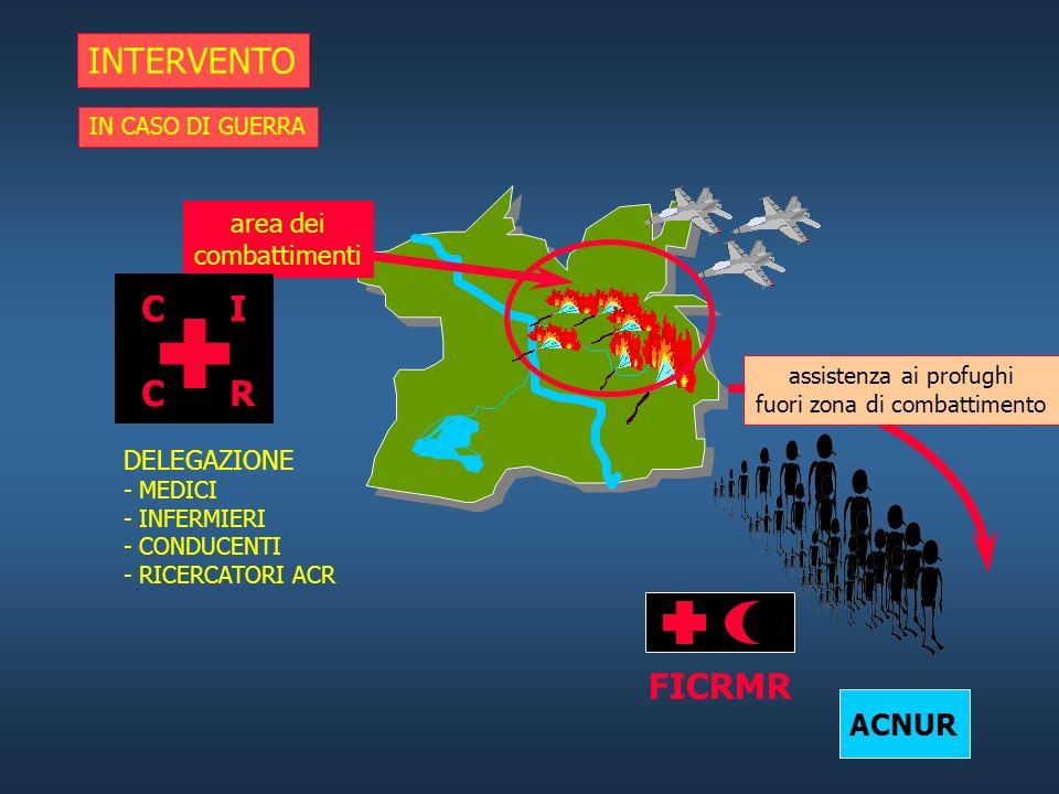 INTERVENTO C I C R FICRMR ACNUR area dei combattimenti DELEGAZIONE