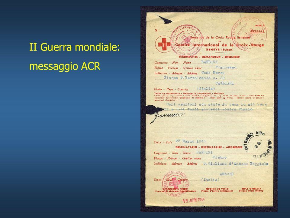 II Guerra mondiale: messaggio ACR