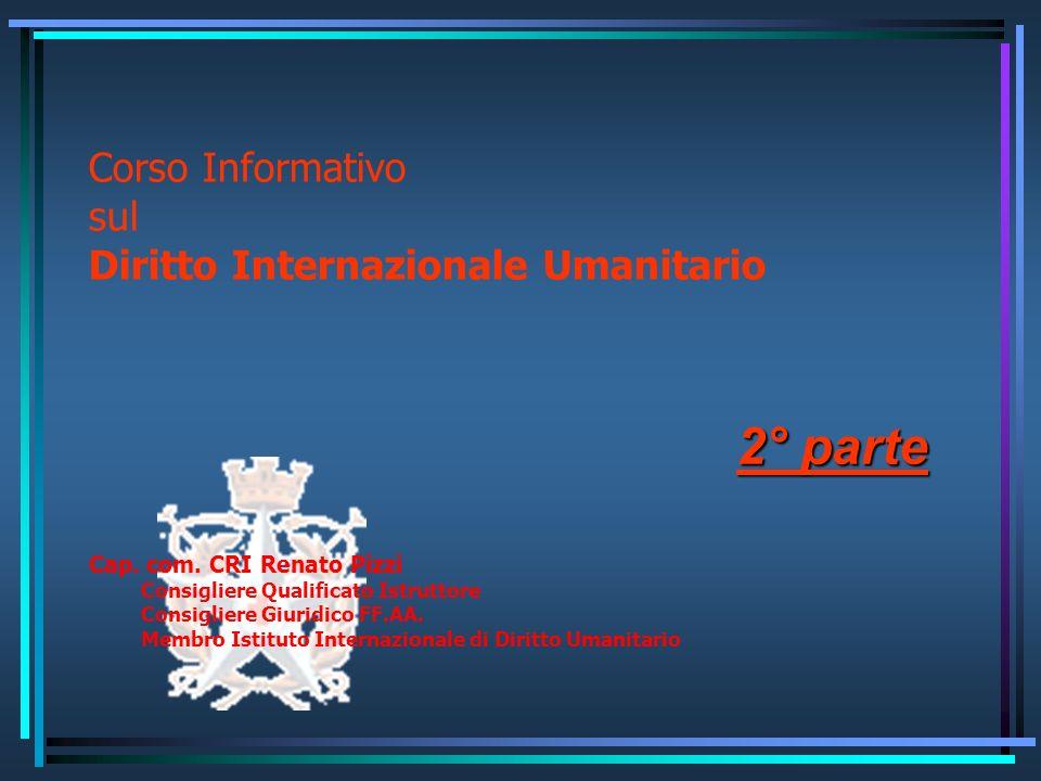 Corso Informativo sul Diritto Internazionale Umanitario
