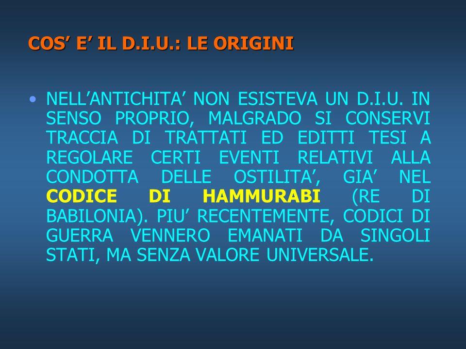 COS' E' IL D.I.U.: LE ORIGINI