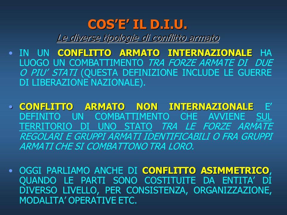 COS'E' IL D.I.U. Le diverse tipologie di conflitto armato