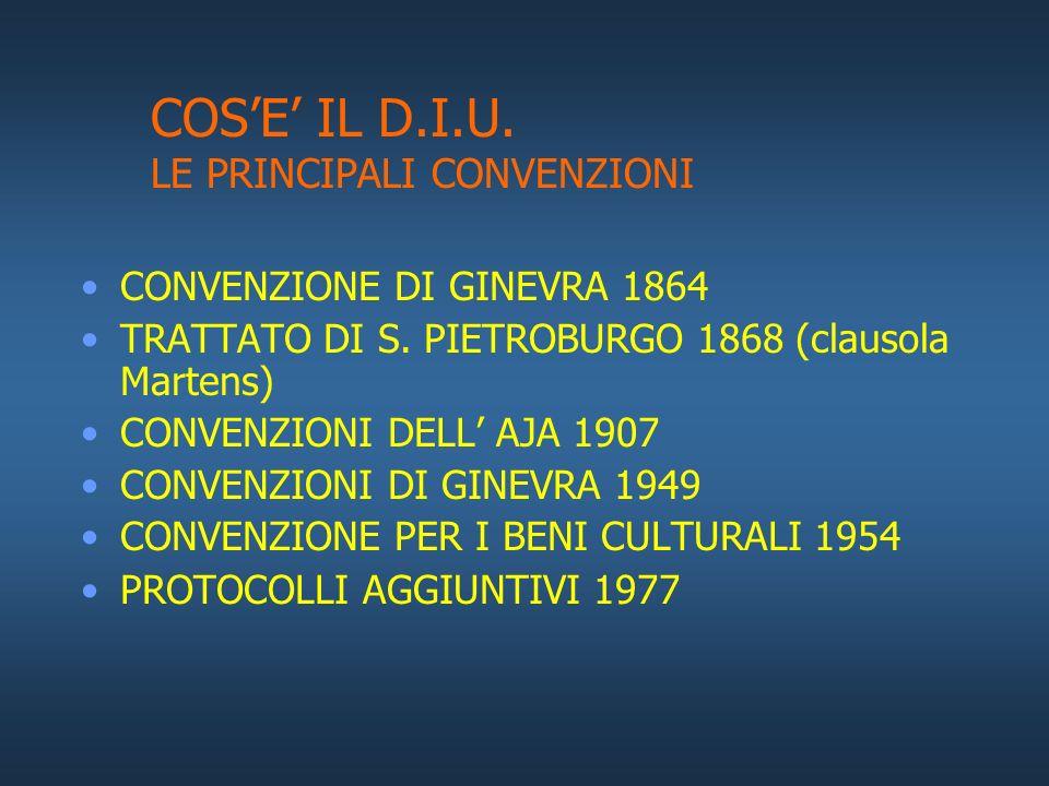 COS'E' IL D.I.U. LE PRINCIPALI CONVENZIONI