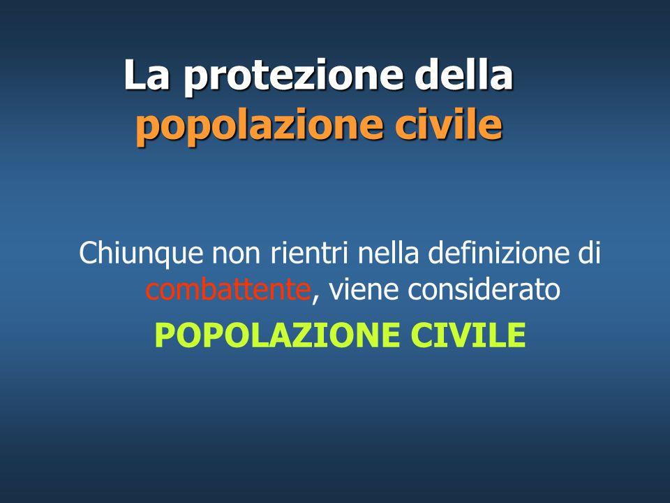 La protezione della popolazione civile