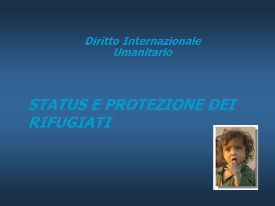 STATUS E PROTEZIONE DEI RIFUGIATI