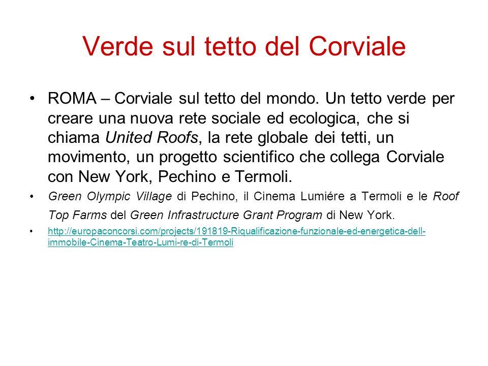 Verde sul tetto del Corviale