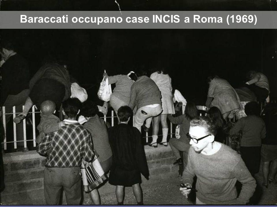 Baraccati occupano case INCIS a Roma (1969)