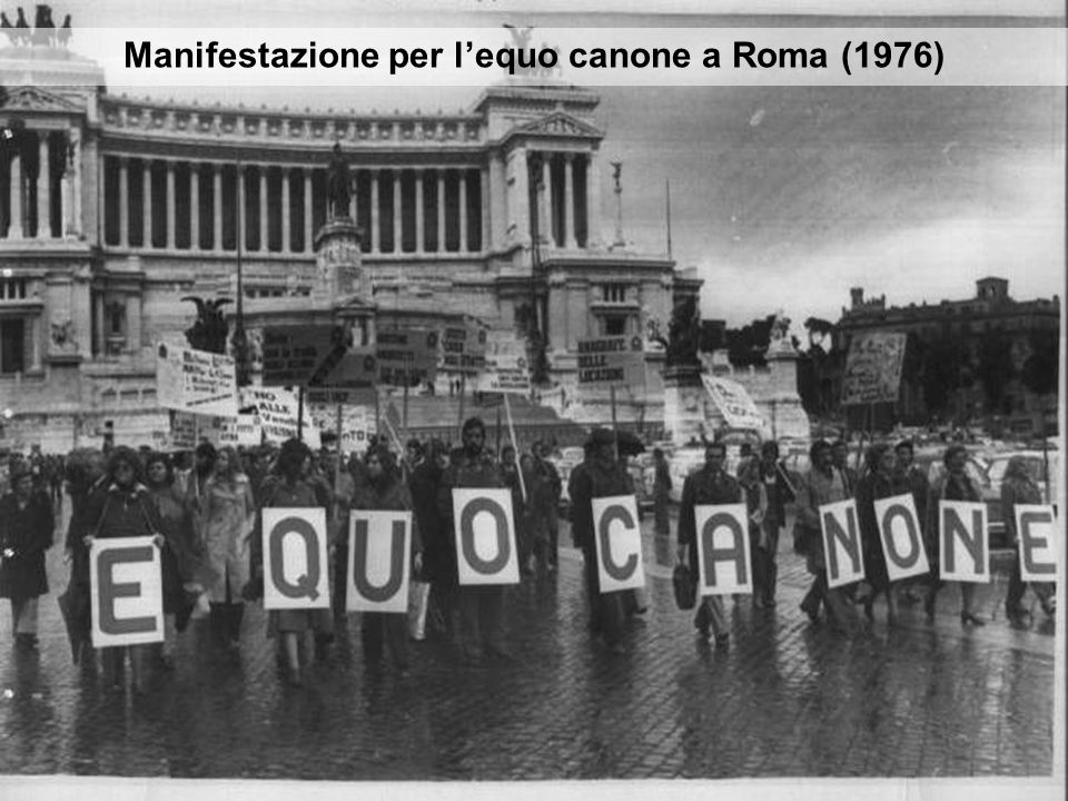 Manifestazione per l'equo canone a Roma (1976)