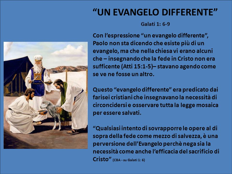 UN EVANGELO DIFFERENTE