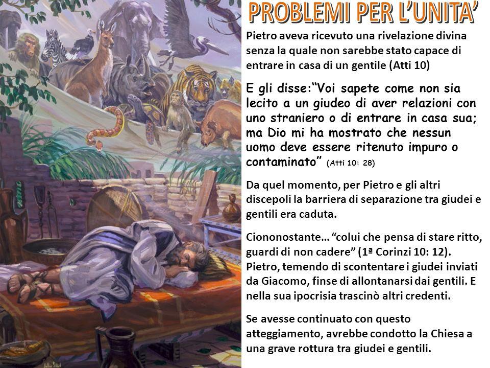 PROBLEMI PER L'UNITA'