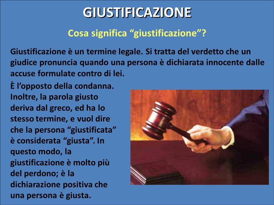 Cosa significa giustificazione