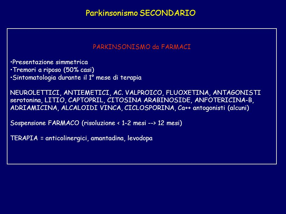 Parkinsonismo SECONDARIO