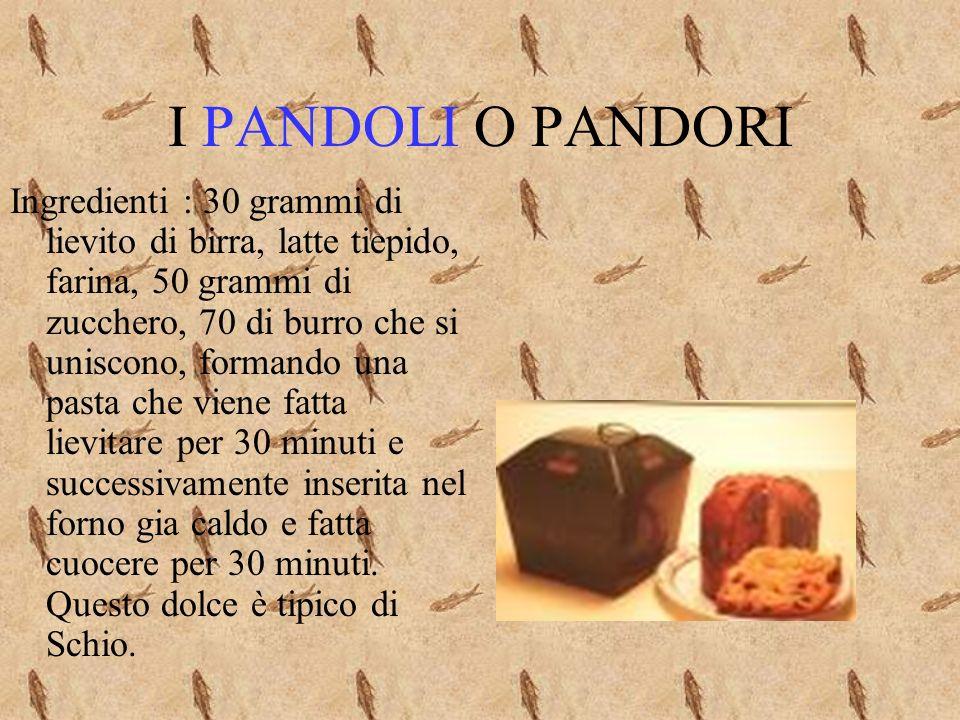 I PANDOLI O PANDORI