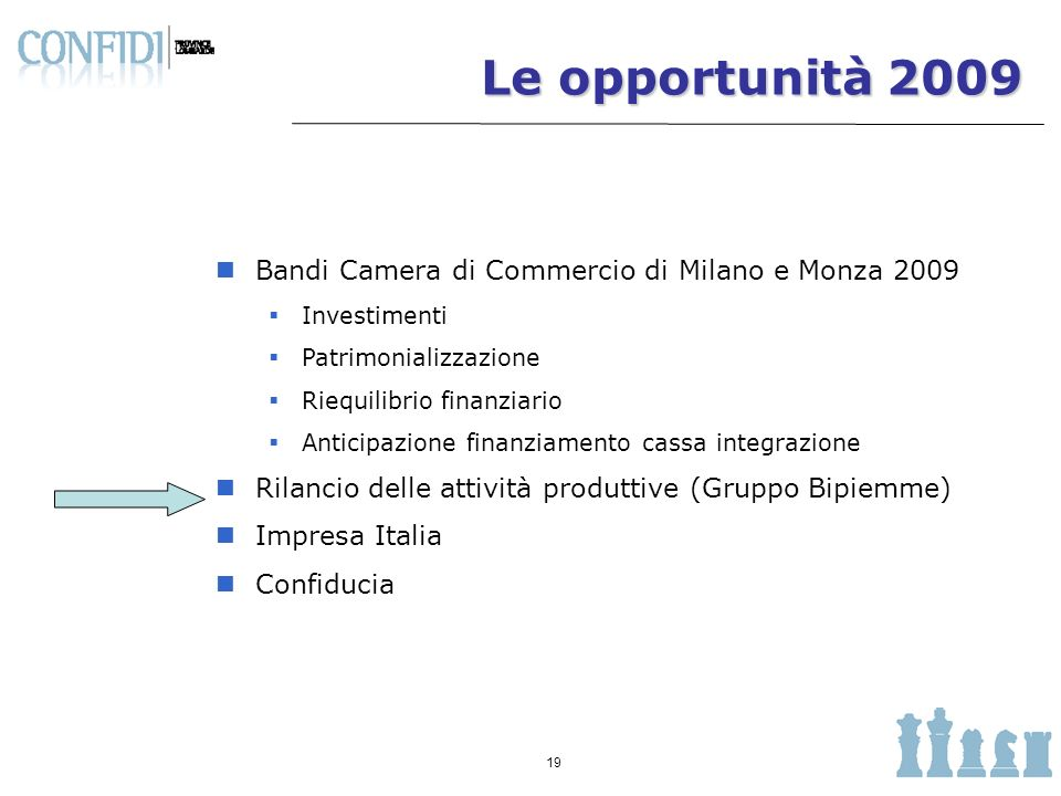Le opportunità 2009 Bandi Camera di Commercio di Milano e Monza 2009