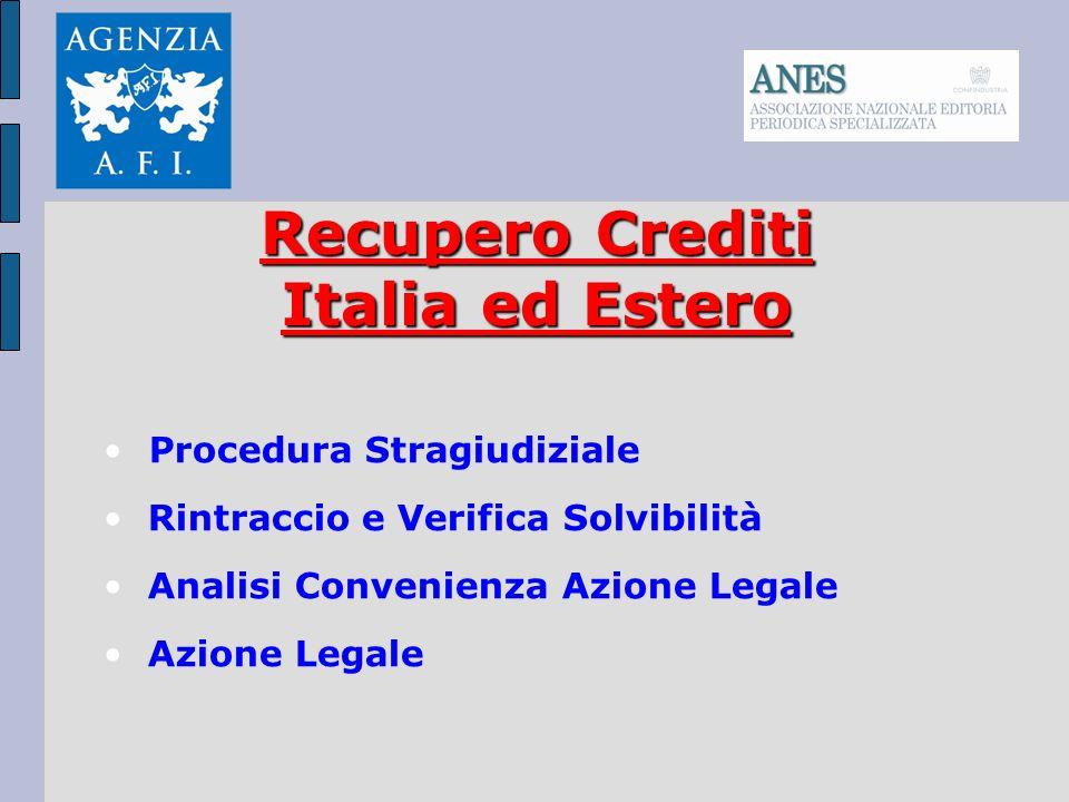Recupero Crediti Italia ed Estero