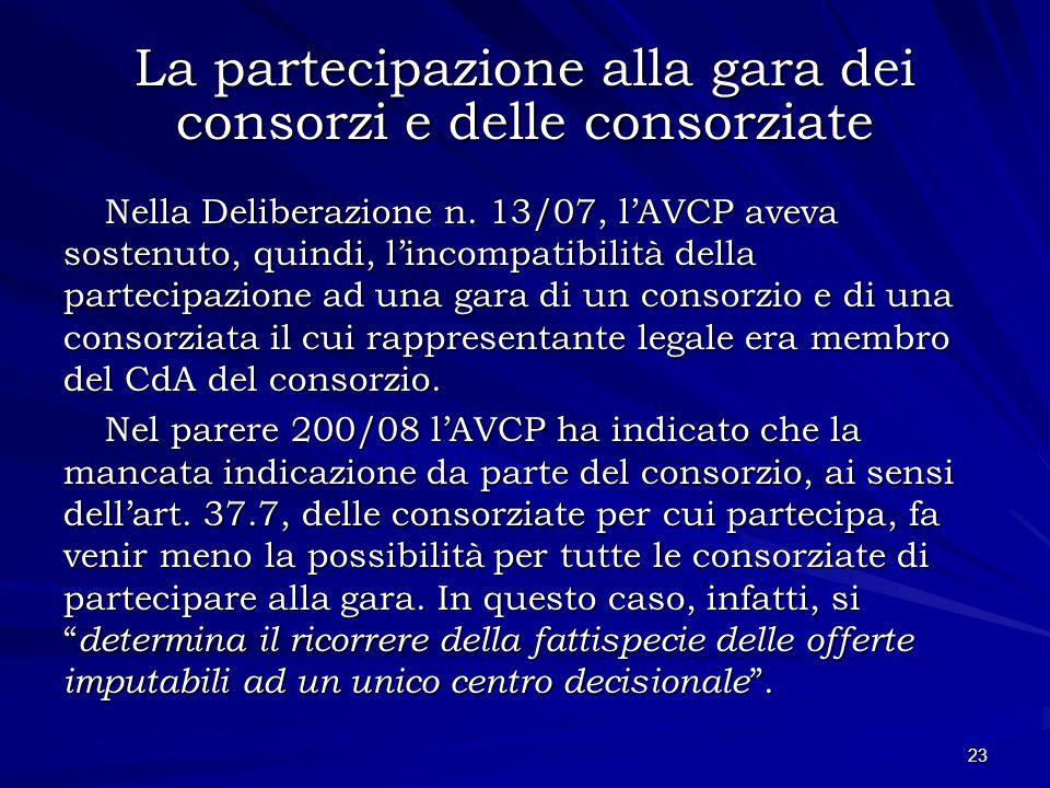 La partecipazione alla gara dei consorzi e delle consorziate