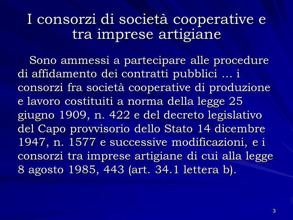I consorzi di società cooperative e tra imprese artigiane