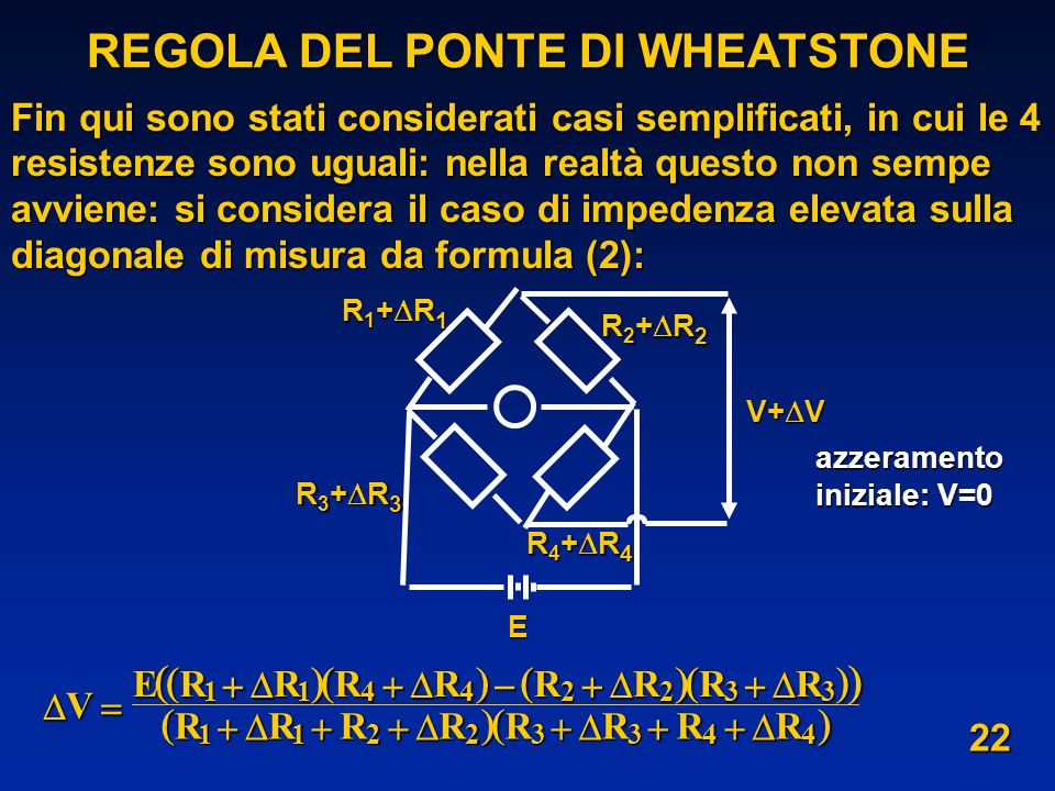 REGOLA DEL PONTE DI WHEATSTONE