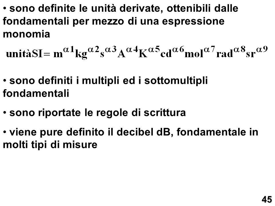 sono definiti i multipli ed i sottomultipli fondamentali