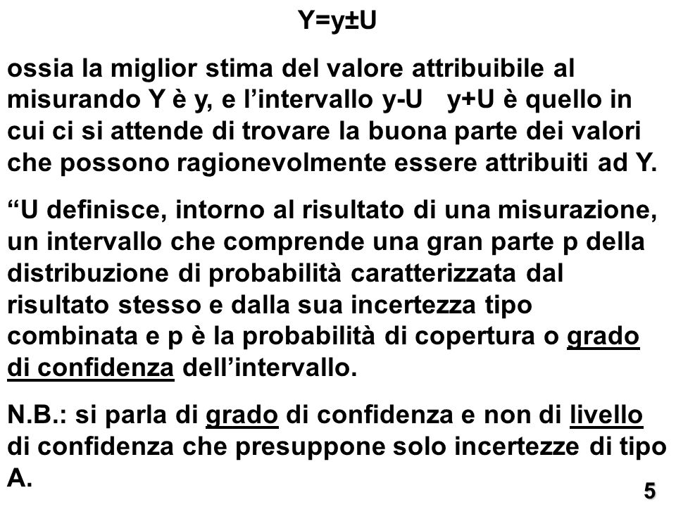 Y=y±U