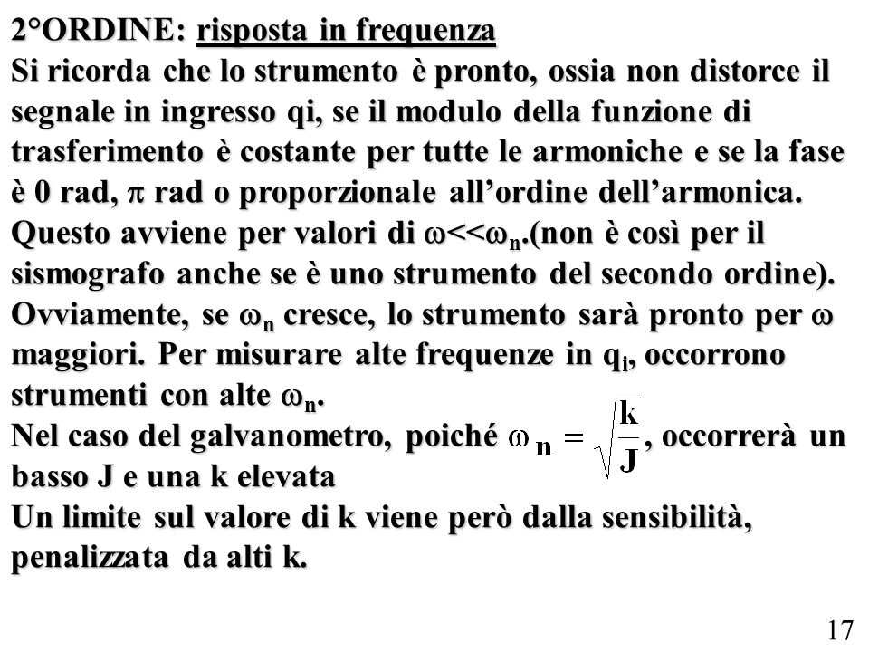 2°ORDINE: risposta in frequenza