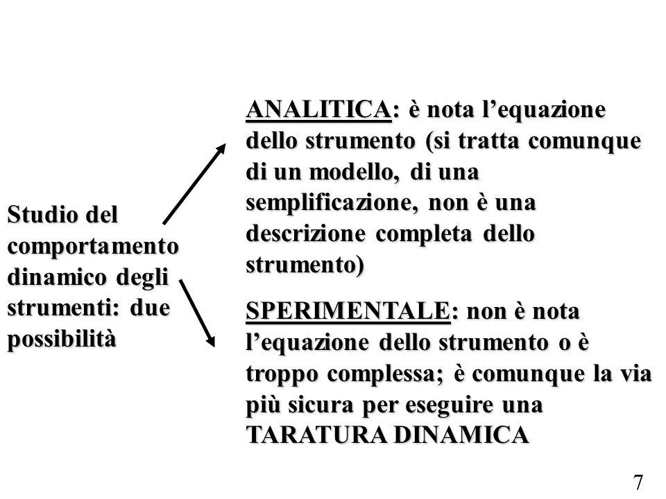 Studio del comportamento dinamico degli strumenti: due possibilità