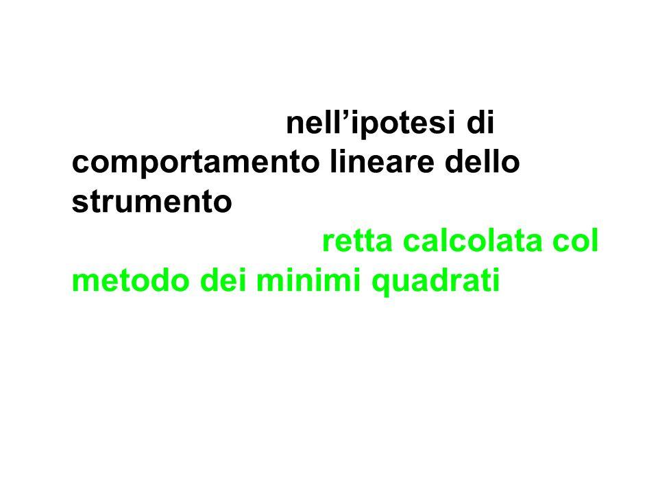 Per esempio, nell'ipotesi di comportamento lineare dello strumento, si può sostituire la spezzata con la retta calcolata col metodo dei minimi quadrati (l'incertezza di linearità sarà poi da combinare con le altre fonti di incertezza determinate).