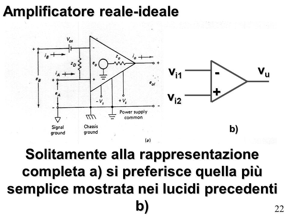 Amplificatore reale-ideale
