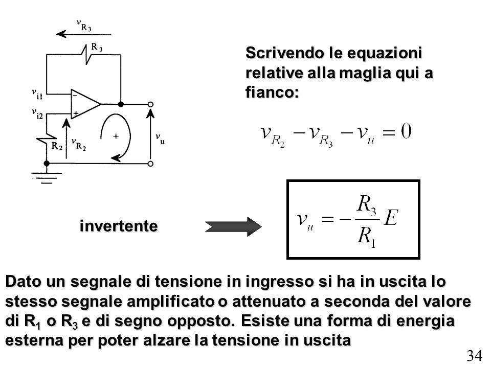 Scrivendo le equazioni relative alla maglia qui a fianco: