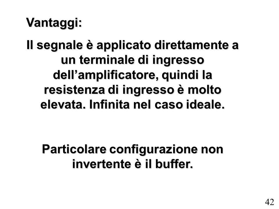 Particolare configurazione non invertente è il buffer.