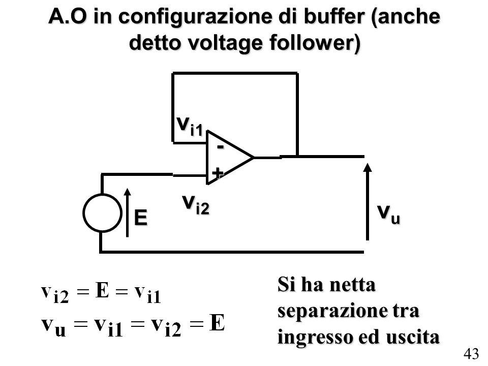 A.O in configurazione di buffer (anche detto voltage follower)