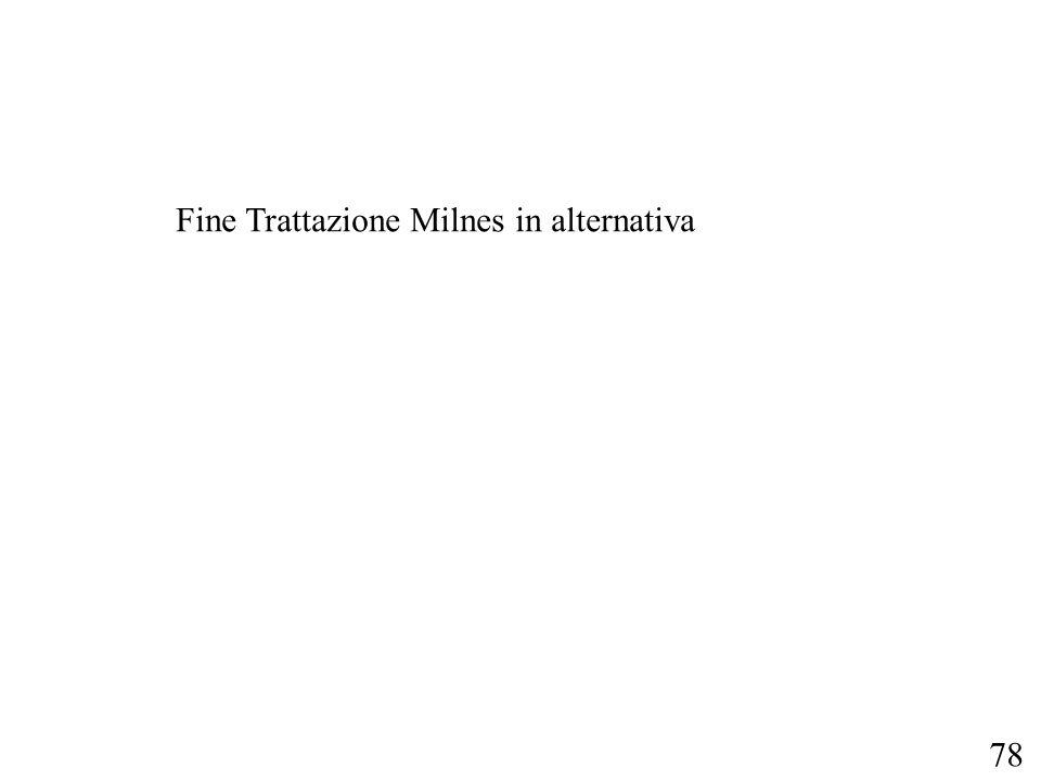 Fine Trattazione Milnes in alternativa