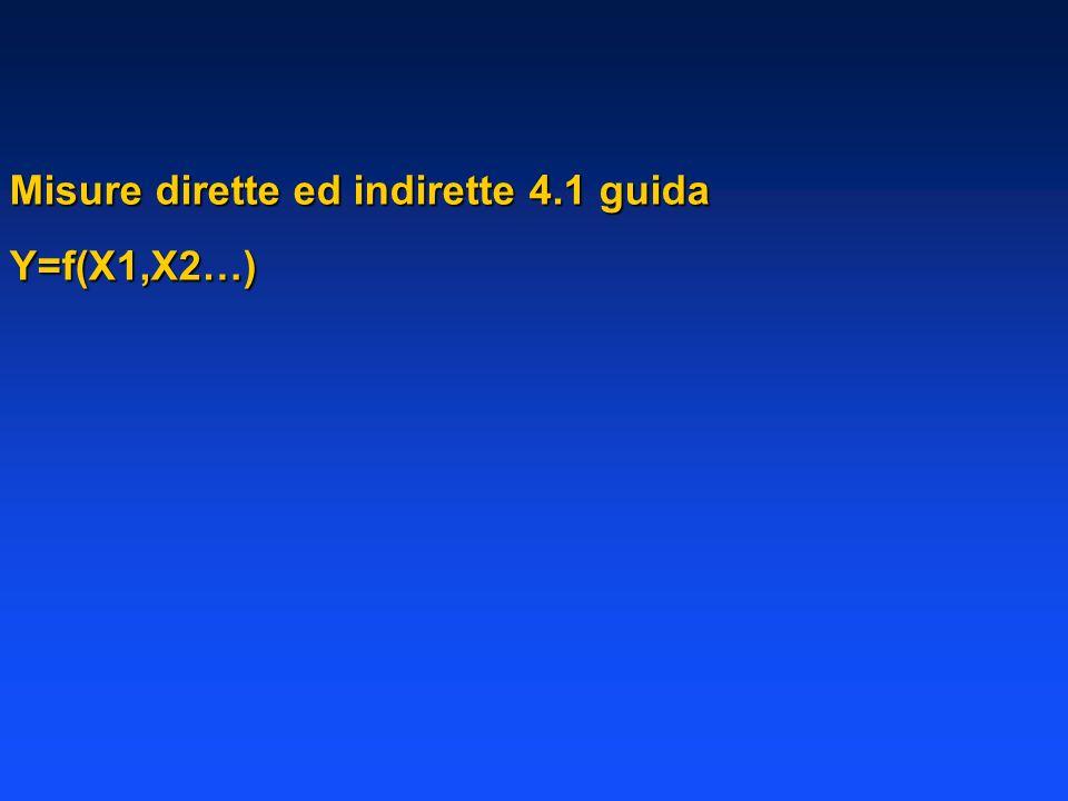 Misure dirette ed indirette 4.1 guida
