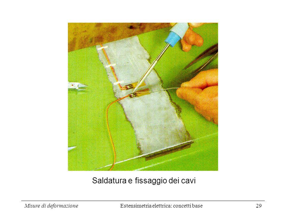 Saldatura e fissaggio dei cavi
