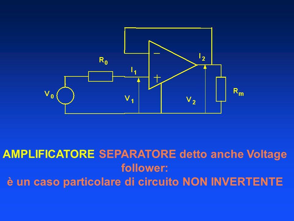 AMPLIFICATORE SEPARATORE detto anche Voltage follower:
