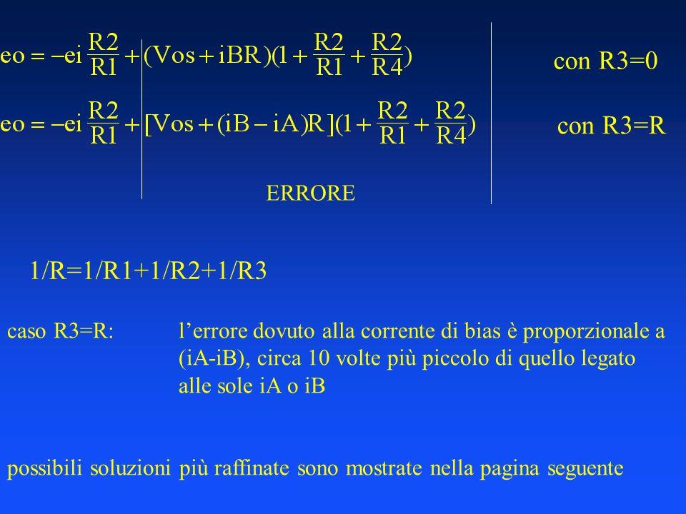 con R3=0 con R3=R 1/R=1/R1+1/R2+1/R3 ERRORE