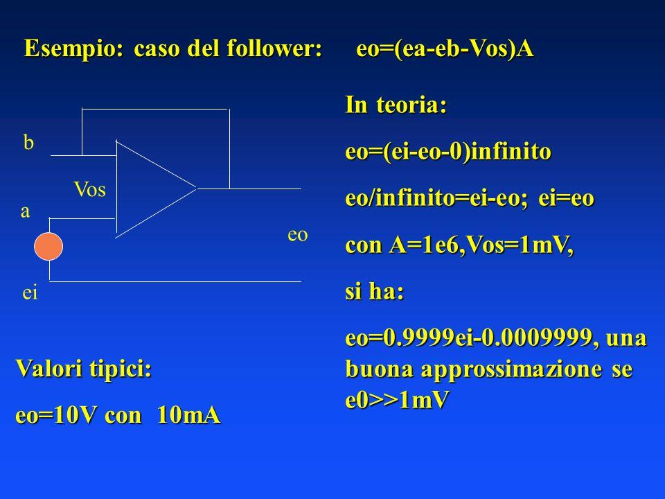 Esempio: caso del follower: eo=(ea-eb-Vos)A