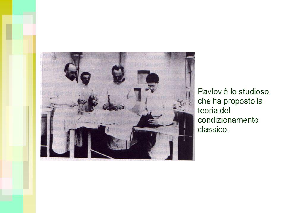 Pavlov è lo studioso che ha proposto la teoria del condizionamento classico.