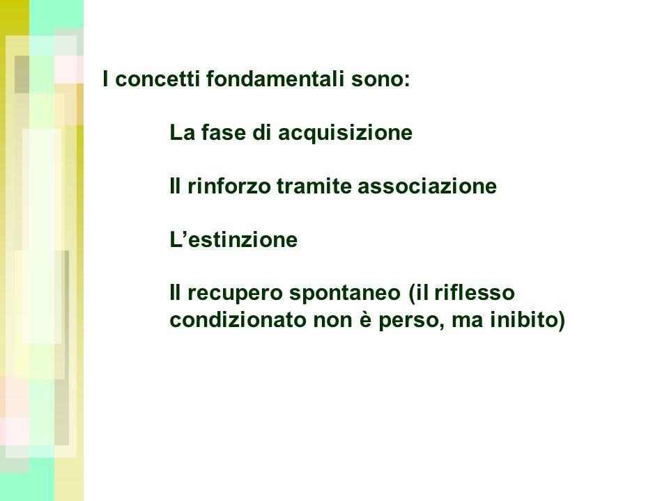 I concetti fondamentali sono: