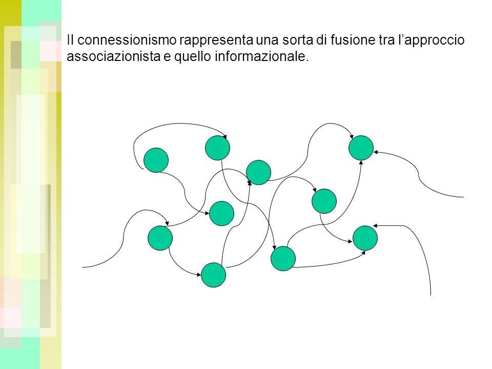 Il connessionismo rappresenta una sorta di fusione tra l'approccio associazionista e quello informazionale.