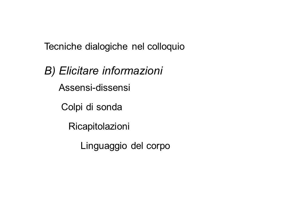 B) Elicitare informazioni